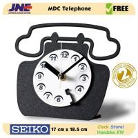 Jam Meja - MDC Telephone - JNE 1KG - Garansi Seiko 2 Tahun!