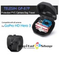 Telesin GP-87P Protective PVC Camera Travel Carry Case for GoPro Hero 3/3+ - Black