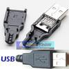 Soket USB kosong tipe jantan - USB socket connector male plug / cok konektor 4 titik solder
