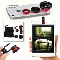 Lensa Universal 3 in 1 merk Lie Qi Original, bisa semua hp & tab, dll