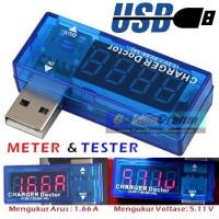 Jual USB MULTIMETER / Multi Tester Pengukur Tegangan dan Arus Ampere USB Ammeter Voltmeter Monitoring and Diagnostic Charger Doctor Murah
