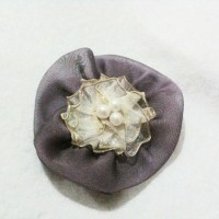 Purple Flower Brooch - Bros Bunga Ungu