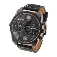 Oulm-9316 Dual Time Watch (Jam Tangan Dengan Penunjuk Waktu Ganda)
