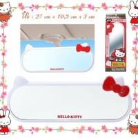 Harga kaca spion mobil hello kitty face ribbon red | antitipu.com