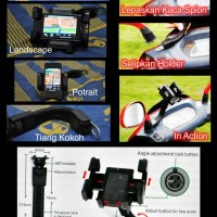 harga Holder Gps / Hp Di Motor , Sepeda. Bike Holder Universal ~ Model Stang Dan Fleksibel Tokopedia.com
