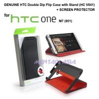 GENUINE Double Dip Flip Case for HTC One M7 (801) - Single SIM