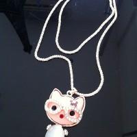 Aksesoris Fashion Korea Kalung Kucing Hello Kitty Batu Berlian Terbaru 2014