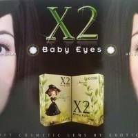 Softlens Warna X2 Baby Eyes Piccola (Hitam) by Exoticon
