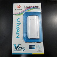 Power Bank / Portable Charger Vivan V05 Universal 5600mAh (Blackberry, Nokia, Samsung, iPhone, iPad, Tab, GPS)