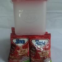 Susu Zee 2 renceng Varian Coklat free Container