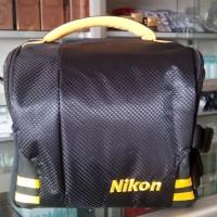 Tas Kamera Nikon muat 1 body 2 lensa, rapi dan kua