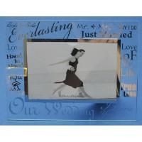 Bingkai Foto Kaca / Mirror Glass Photo Frame Our Wedding TF13023M 6x4 (07740)