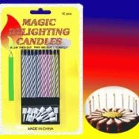 LiLin ULANG TAHUN / LiLin MAGIC / LiLin AJAIB (Magic Relighting Candles) Ditiup Nyala Lagi Gak Bisa Mati Usil Jahil - 10 pcs