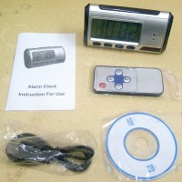 Spycam Jam Meja Digital + Remote Control