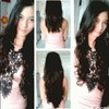 hair clip 3 layer lurus/ curly keriting, rambut palsu extension