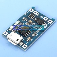 5V 1A Micro USB to Lithium Battery Charging Module + Protection Board Combo Charger Modul Cas Batere Baterai Rechargeable
