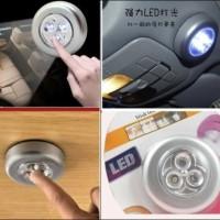 Stick Click Touch Lamp Lampu Tempel Tekan Sentuh LED Mini Darurat Emergency Magic Lemari Baju Mobil Kamar Alat Rumah Tangga
