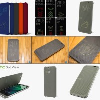 Jual Official Case Dot View HTC One M8