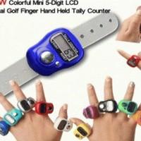 Tasbih Digital Mini / Finger Counter / Penghitung Digital / Tally Counter - Penghitung Survei Barang - Mini Muat di Jari