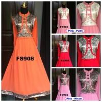 Baju Pesta Muslimah Jaguar Ceruty Fika Shop FS908