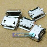 Soket micro USB kosong tipe betina - micro USB socket connector female plug MK5P SMD / cok konektor 5 titik solder