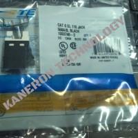 AMP / Tyco Electronics 4 Pair, Category 6 SL Series Modular Jack BLACK P/N: 1933748-2