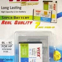 Nokia BL-5C 2250mAh Battery / Baterai Vizz Double Power BL5C Nokia N70 / E50 / E60 / N-Gage / N70 / N71 / N72 / N91