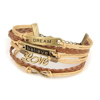 Gelang Korea Multi Charm Dream, Believe & Love KB11317