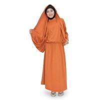 Baju Gamis G Nine Simple Warna Orange GN 3706