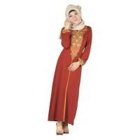 Baju Gamis Raindoz RIS 015 Merah Spandex