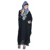 Baju Gamis Raindoz RWD 012 hitam Bahan Hicon