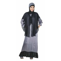 Baju Gamis Raindoz RWD 013 Abu Simple