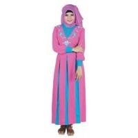 Baju Gamis Raindoz RRK 009 pink Cotton