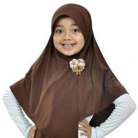 Jilbab Anak Abella S Coklat Elthof