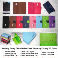Mercury Fancy Diary Wallet Case Samsung Galaxy S5 G900 Casing Sarung Flip Book Cover Softshell Softcase
