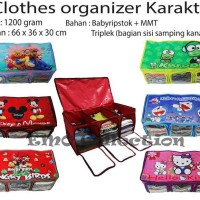 CLOTHES ORGANIZER KARAKTER/TEMPAT/BOX PAKAIAN/SPREI/BUKU/MAINAN ANAK EMO POOH DORAEMON CARS ANGRY BIRDS