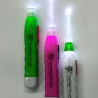 Earpick Rp. 3000 Korek Kuping LED Flashlight Kw1 Qualitas Bagus Acrylic Tidak Butek