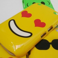 HARD CASE EMOTICON TYPE BLACKBERRY DAVIS / AMSTRONG (9220/9320)