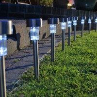 Lampu Taman Tenaga Matahari LED Garden Lamp Taman LV Tenaga Surya Otomatis Tanpa Listrik Tanpa Kabel Wire Electrical Unik