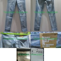[HOT] 100% Authentic Jeans &DENIM Blue H&M Skinny Low Jeans HM