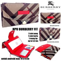 DOMPET HPO BURBERRY FIT FOR HP / ANDROID KW SUPER DARK RED