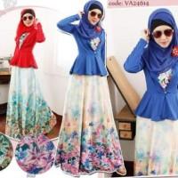 Gamis, baju muslim, baju murah tanah abang, kode VA24614