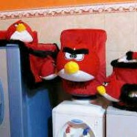 GMKT Karakter Angry Bird Warna Merah