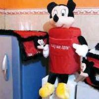 GMKT Karakter Minny Mouse Warna Hitam Merah
