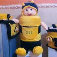 GMKT Karakter Lebah Warna Kuning Hitam