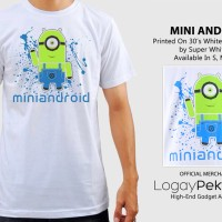 Jual Kaos Android T-Shirt Mini Android  - LogayPektay Design - Baju Minion Murah
