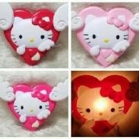 Lampu Tidur Dinding Sayap Malaikat Angel Cupid Love Cinta Romantic Besar Karakter Kartun Cartoon Lucu Hello Kitty Helo Kity HK