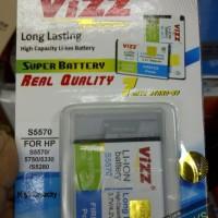 Baterai / Battery Double Power Vizz Samsung S5570 2400mAh (Galaxy Mini, S5750 Wave, S5330 Wave)