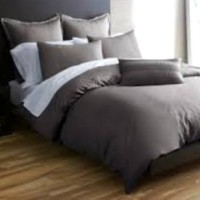 Bedcover Set Jaxine Polos Katun Prada Dark Grey 180x200x20