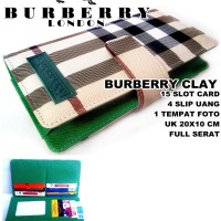 DOMPET BURBERRY WANITA CLAY KULIT KW FULL HIJAU LIGHT